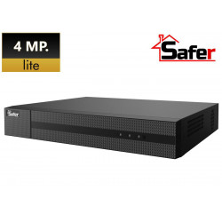 DVR 4 canale pentabrid 4MP Lite, 1 x SATA, compresie H.265+ Pro, SAFER