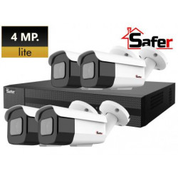 Kit 4 camere supraveghere video 4MP - LITE Safer