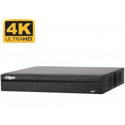 NVR 8-CH, 4K UHD, 8 x PoE, 80Mbps, Dahua NVR2108HS-8P-4KS2