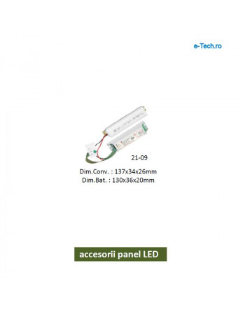Convertor cu acumulator pentru corpuri cu LED