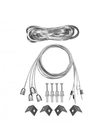 Set 4 sufe cu cablu de alimentare pentru Panouri LED 60x60 & 30x120 cu cu cablu alimentare