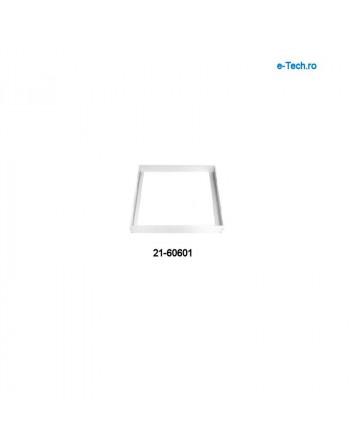 Aluminium frame 600x600x43mm, white