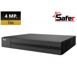 DVR Standalone SAFER 8 CH, 4MP Lite, Hybrid