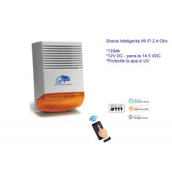 Sirena Inteligenta, Wi-Fi, 2.4 Ghz, 120dB, 50W Max.