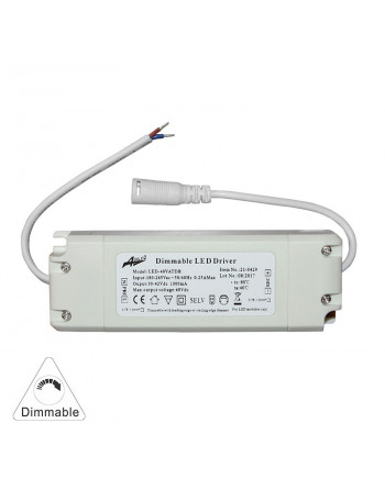 Driver dimmable for LED panel 42W-input:100-240VAC / output:30-42VDC 1000mA