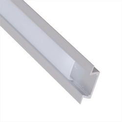 Profil aluminiu pentru banda led, montaj îngropat (ST), 1m