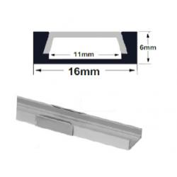 Profil aluminiu pt banda led, montaj aparent (PT), 2M