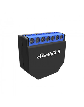 The Shelly 2.5 Wi-Fi relay will let you monitor the power consumption, control and automate two regular (non-smart) devices.